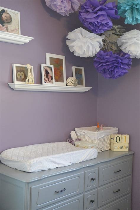 purple nursery decor miss a s purple grey and teal nursery project