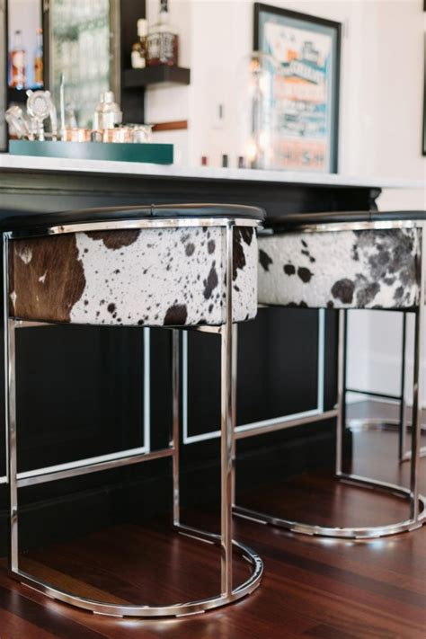 Hide Top Bar by I Like The Luxe Style Of These Masculine Bar Stools