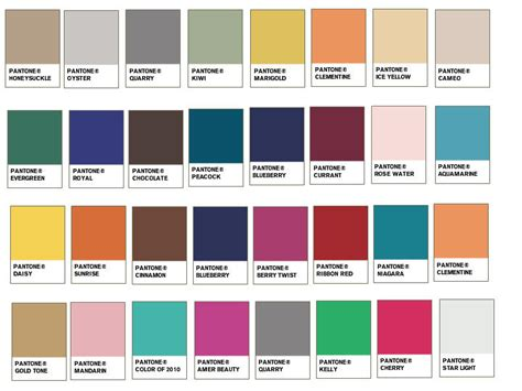 pantone color pallete spring summer 2011 color palettes pantone wedding