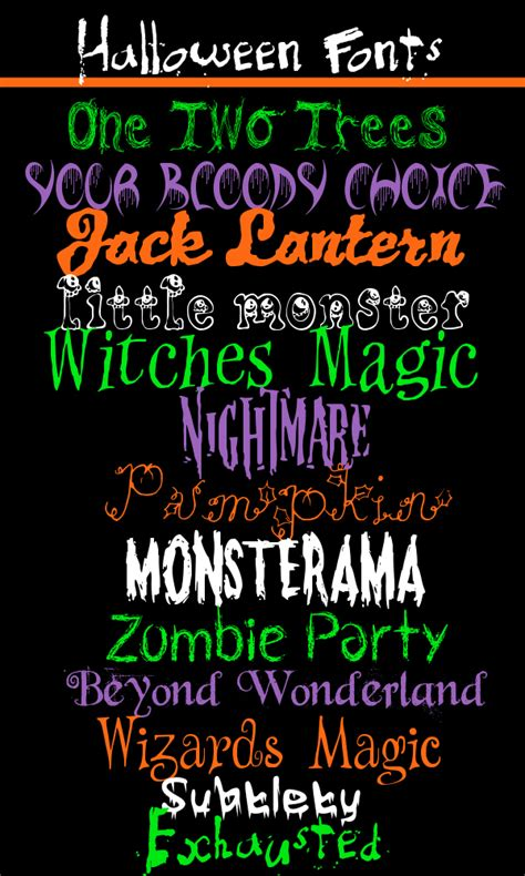 printable scary fonts 13 free halloween fonts