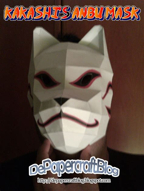 Kakashi Anbu Mask Papercraft - kakashi s anbu mask by poskas on deviantart