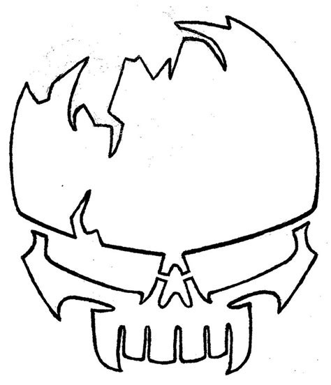 stencil skull 2 by josh308 on deviantart