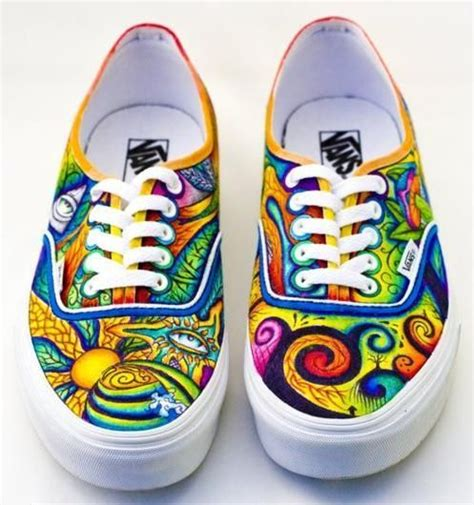 colorful vans colorful colors sneakers vans wow image 402522 on