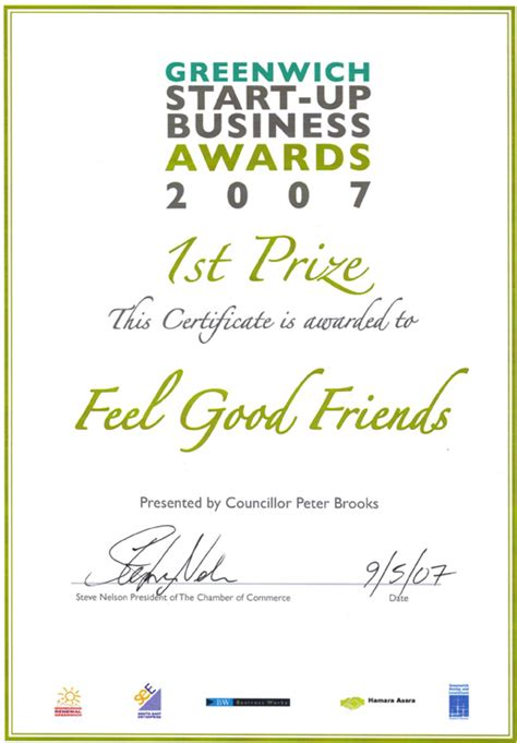 Greenwich Mba Requirements by 1st Prize In Greenwich Start Up Business Award Feeling