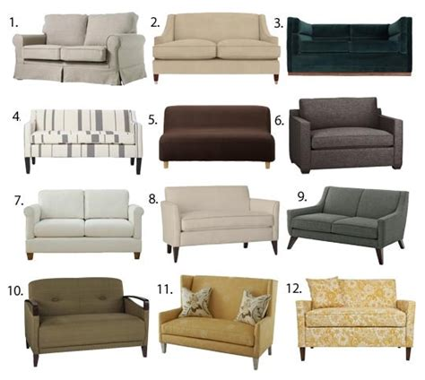 wide couch small space seating sofas loveseats under 60 inches