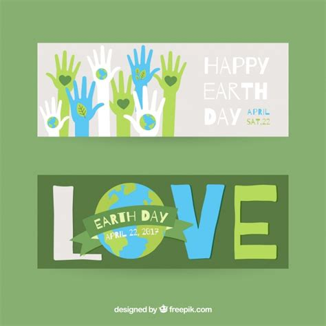 day banners free earth day banners vector free