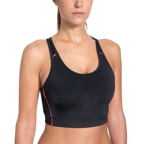 Sorex 01001 Sport Bra Basic s wire free non padded basic shiny color sports bra top in sports bras from sports