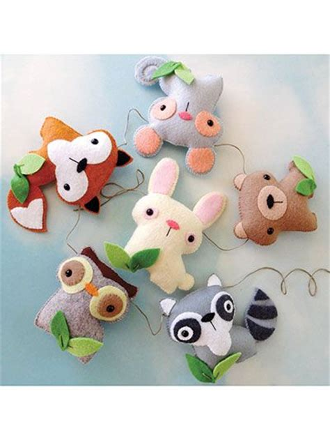 pattern for felt animals sewing felt woodland animal set res0349 stitch them