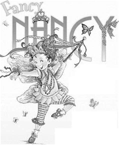 fancy nancy coloring pages free printable 18 best images about fancy nancy world on pinterest