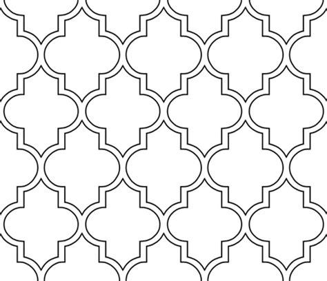 printable quatrefoil template moroccan outline quatrefoil in black fabric