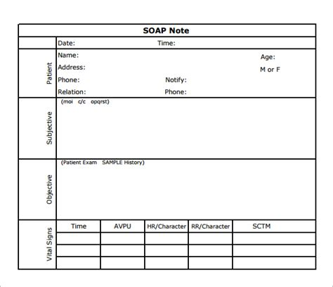 soap note exle 8 best images of soap note template pdf printable blank