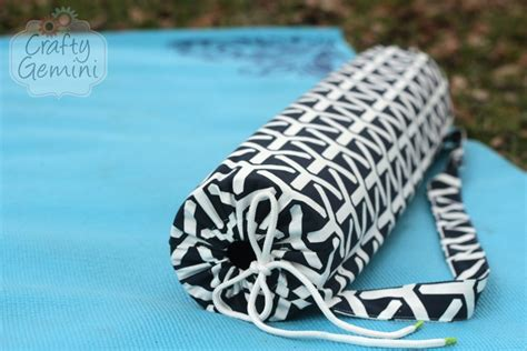 yoga mat case sewing pattern yoga mat bag video tutorial crafty gemini