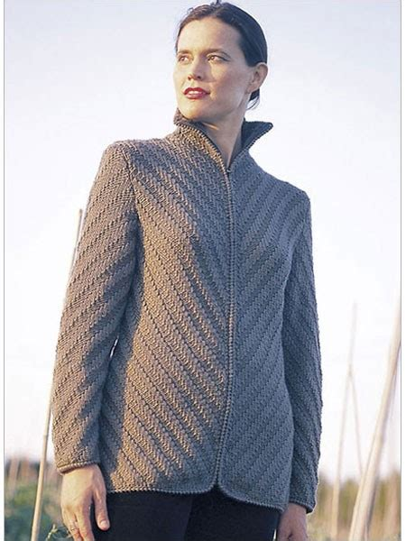 knitting pattern zippered cardigan diagonal zip jacket knitting pattern download cardigans