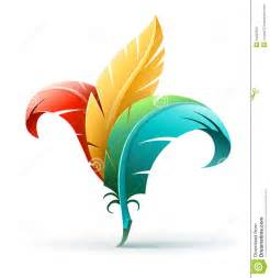 color concept creative concept with color feathers stock photography