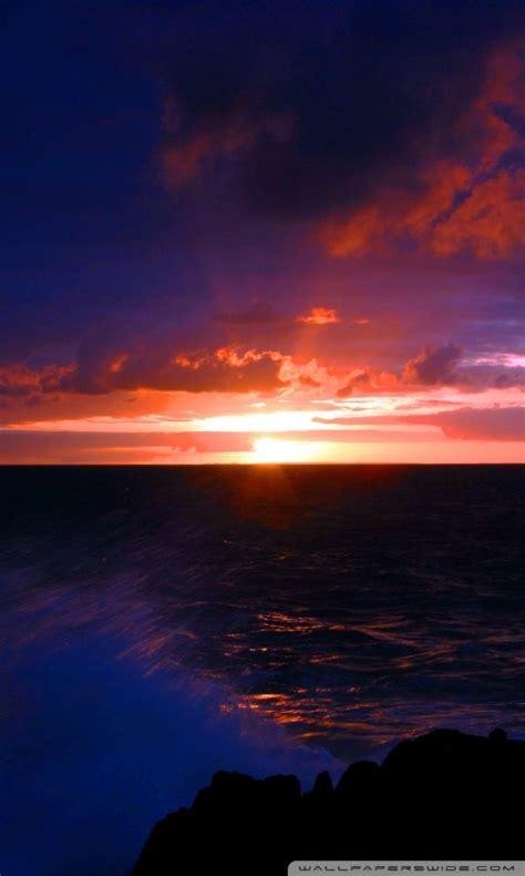beach scene sunset   hd desktop wallpaper  wide
