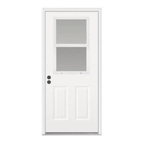 Half Door Home Depot by Jeld Wen Premium Vented Half Lite Primed Steel Prehung