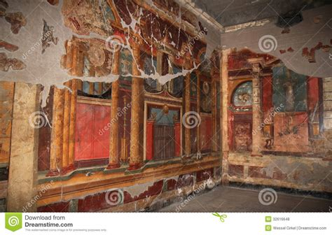 Dining Room Wall Murals murals in the roman villa poppaea italy royalty free