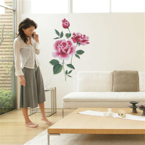 removable wall vinyl decal bunga mawar diy rumah dekorasi dinding stiker in wall stickers