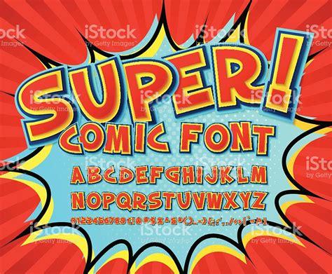 font pop art creative comic font vector alphabet in style pop art stock