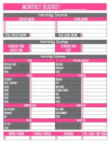 free budgets templates month at a glance budget sheets printable calendar