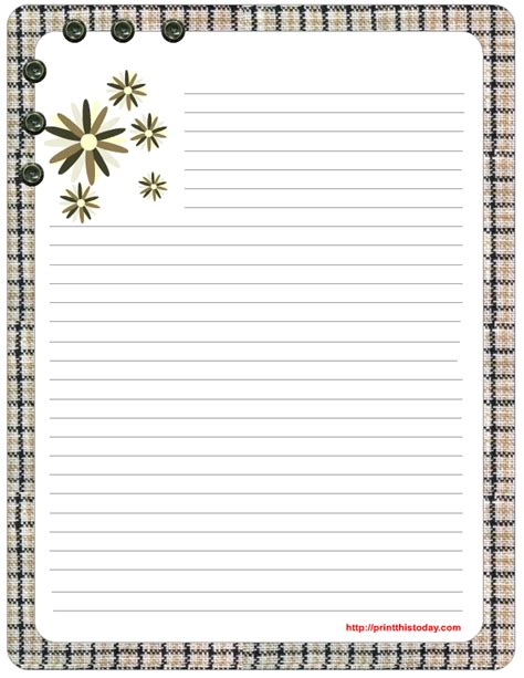Stationary Template Free by Free Printable Stationery Let The Handwritten Letter Live