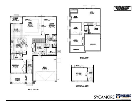 sycamore floor plan sycamore b holmes homes