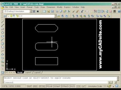 autocad 2007 tutorial for beginners english autocad tutorial for beginners from mycadsite com youtube