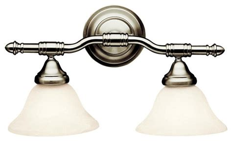 energy efficient bathroom lighting energy efficient 2 light vanity fixture brushed nickel