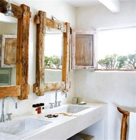 rustic bathroom mirror pinterest