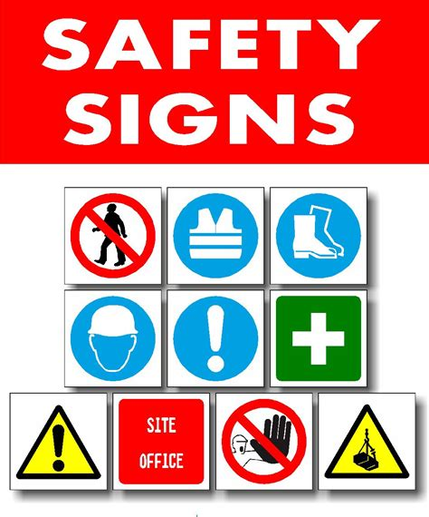 safety signs images clipart best