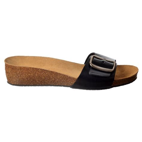 single sandals sweet leather single buckled flip flop