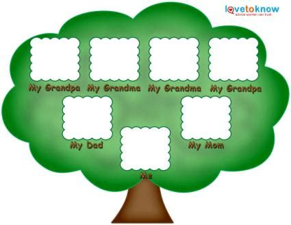 free family tree template printable free printable family tree template for children