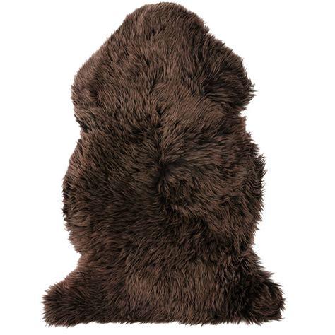 pet sheepskin rugs auskin sheepskin single pelt pet rug 37x24 quot in chocolate