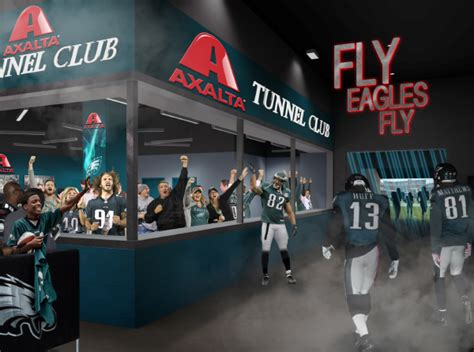 philadelphia eagles fan club philadelphia eagles add tunnel club to lincoln financial