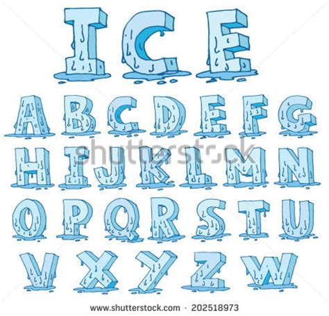 printable melting font ice font stock images royalty free images vectors