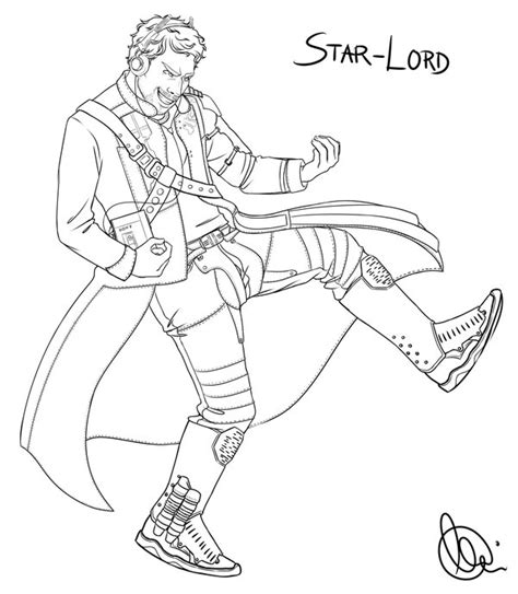 star lord coloring page star lord coloring pages pictures to pin on pinterest