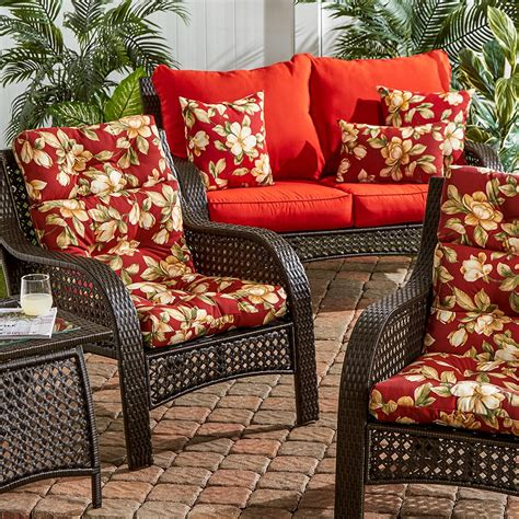 seat patio cushions replacements outdoor patio high back cushion replacement for