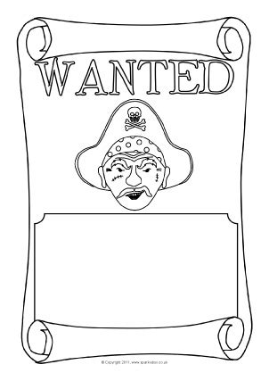 wanted pirate poster template pirate ship printables and resources