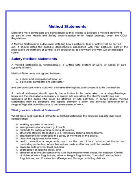 method statement exles free it resume cover letter sle