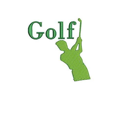 Word Swing Golf Swing With Word Golf Embroidery Design Silhouette