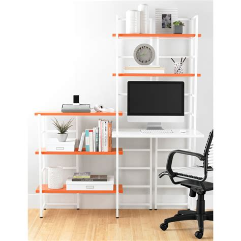 Shelving With Desk by White Connections Extended Desk Shelf The Container Store