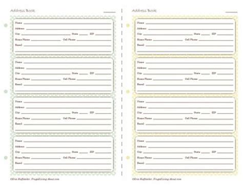 cute printable address book template 390 best printables images on pinterest classroom decor