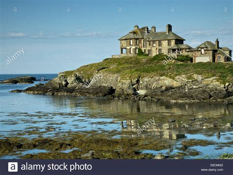 best place to buy a house in bay area craigy y mor the haunted house trearddur bay on the western coast of stock photo