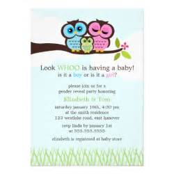 sweet owls gender reveal personalized invitations