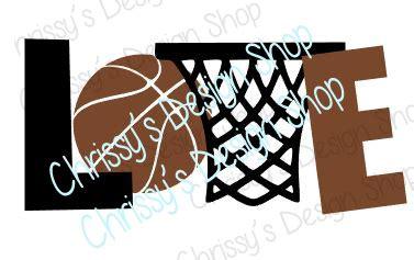 love basketball word art svg dxf png – chrissy's design shop
