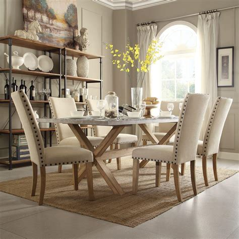 light oak dining room sets homesullivan upton 7 piece weathered light oak dining set