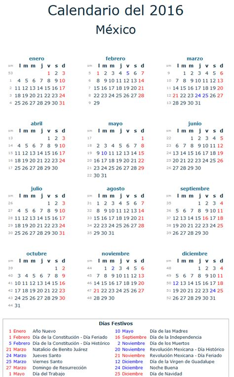 Calendario Dia Dias Festivos De 2016 Obligatorios Search Results