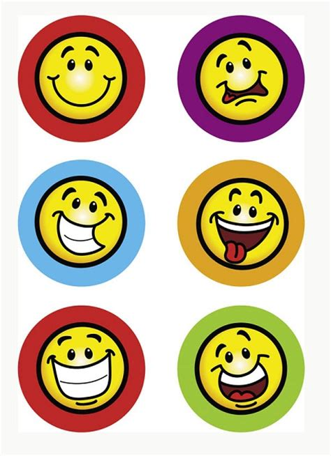 printable smiley stickers clip art decal clipart