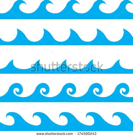 wave pattern definition seamless vector blue wave line pattern stock vector