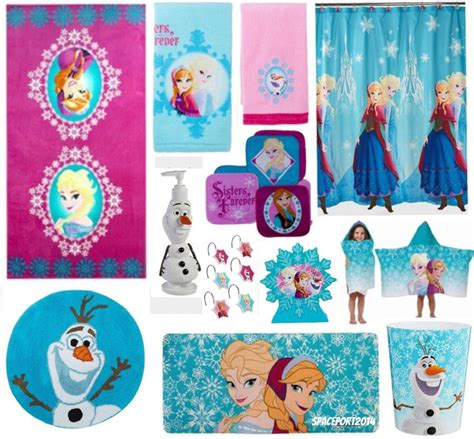 Bathroom Set Keranjang Frozen 28pc complete frozen elsa bathroom set shower curtain towels rug bath mat ebay